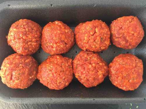 8 hot n spicy beef meatballs