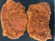 2 x 6oz peppered pork loin steaks